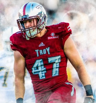 Top-notch tackler Hunter Reese was named to the All-Sun Belt first team last year. (contributed)