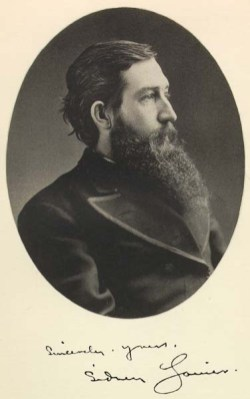 "This is the frontispiece photograph of Sidney Lanier, from ""Poems of Sidney Lanier, Edited by his Wife,"" New York: Charles Scribners Sons, 1884."