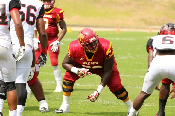 Offensive lineman Lowell Richardson. (Tuskegee University Athletics)