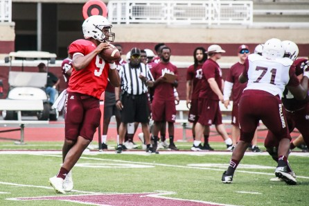 Dylan Smith (9) is one of three quarterbacks contending for the starting job at Alabama A&M. (Alabama A&M Athletics)