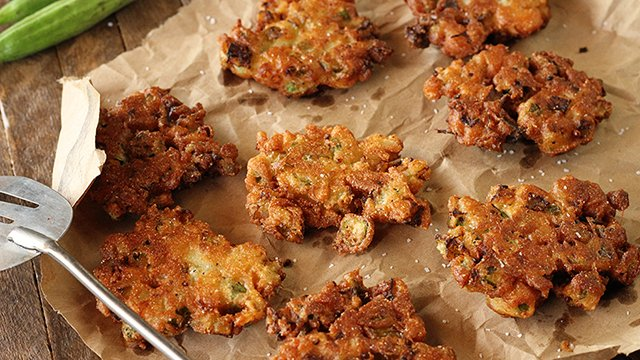 Recipe: Okra and Green Tomato Fritters