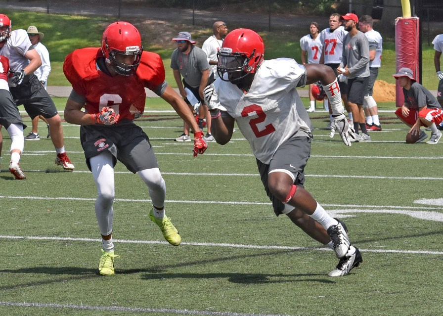 """Senior wide receiver Otis Porter is """"a guy who everybody we play knows about,"""" Coach Mike Turk says. (Huntingdon College Athletics)"""