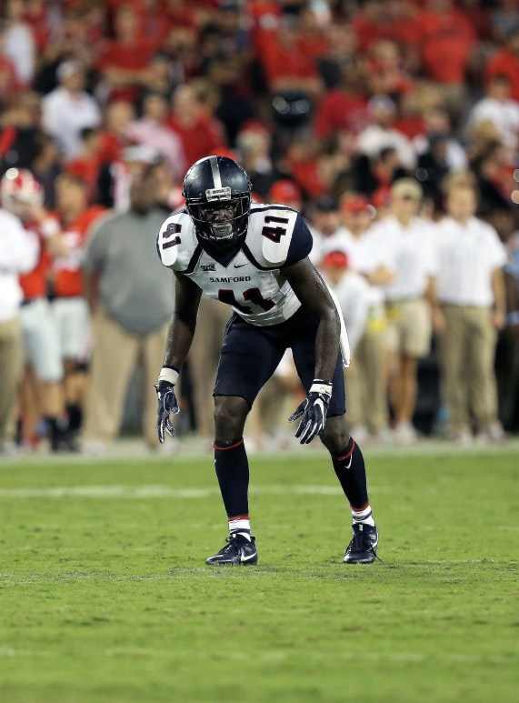 Safety Sam Pettway had a good spring and is expected to be a defensive standout for Samford this season. (Samford University Athletics)