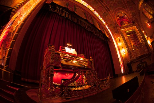 The Alabama Theatre's Mighty Wurlitzer, affectionately known as Big Bertha, is nearly 91 years old. Custom-made for the downtown movie palace. The organ was played on opening night, Dec. 26, 1927. (Photo by Butch Oglesby, Blue Moon Studios)
