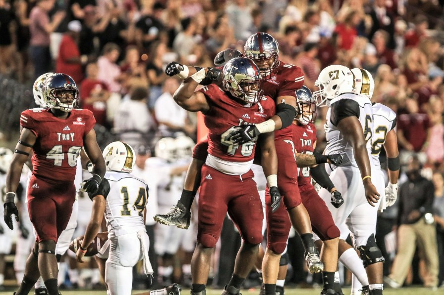 Troy set a high standard for itself with last year's 11 wins. This season is front-loaded with some tough games, but Coach Neal Brown has confidence in his team. (Troy University Athletics)