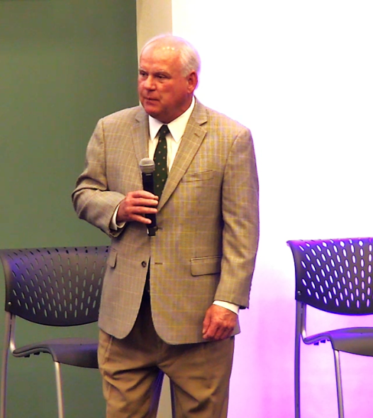 UAB President Ray Watts addresses the Smart Cities Readiness Workshop at Birmingham CrossPlex. (Dennis Washington / Alabama NewsCenter)