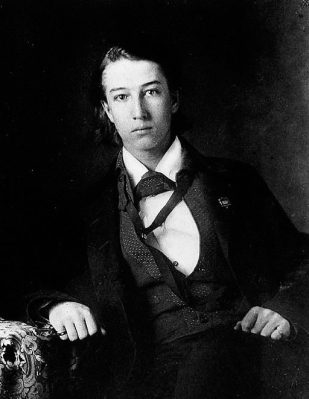 Portrait of Sidney Lanier, 1857. (Wikipedia)