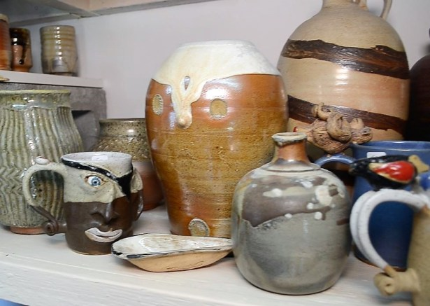 Steven Dark's pottery comprises both functional works and sculptures. (Michael Tomberlin/Alabama NewsCenter)