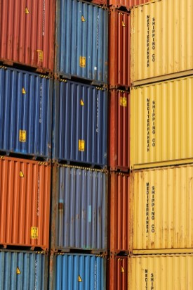 Shipping containers are driving a big part of the Alabama State Port Authority import and export business. (Mike Kittrell / Alabama NewsCenter)