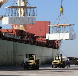 The Alabama State Port Authority is one of the nation's largest ports for forest products. (Mike Kittrell / Alabama NewsCenter)