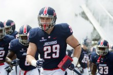 Tight end Collier Smith is one of the leaders on this year's South Alabama Jags team. (Brad Puckett)