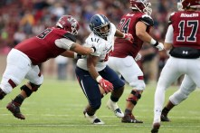 Defensive lineman Tyree Turner is a key player for South Alabama this year, his coach says. (Scott Donaldson)