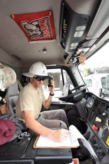 Alabama Power crews in Birmingham were among those who loaded up and rolled out Tuesday to safely preposition and be prepared to assist other states after Hurricane Florence makes landfall. (Wynter Byrd / Alabama NewsCenter)