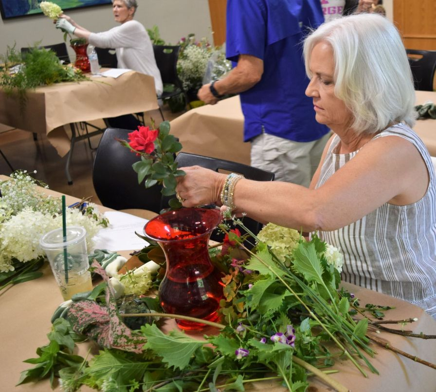 Being creative helps patients to refocus their energies away from pain and treatments. (Donna Cope/Alabama NewsCenter)
