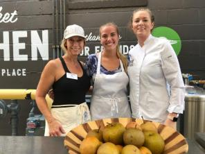 Chef Brittany Garrigus, right, was joined by Susan Swagler, left, and Les Dames d'Escoffier scholarship recipient Sydney Smith, center. (contributed)