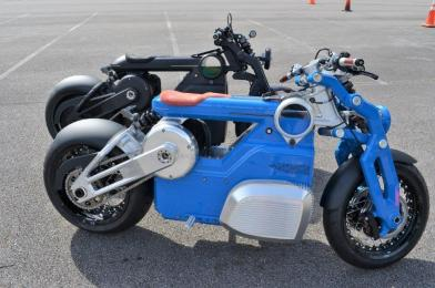 Curtiss Motorcycles showed off its latest electric motorcycles at the National Drive Electric Week in Birmingham. (Michael Tomberlin / Alabama NewsCenter)