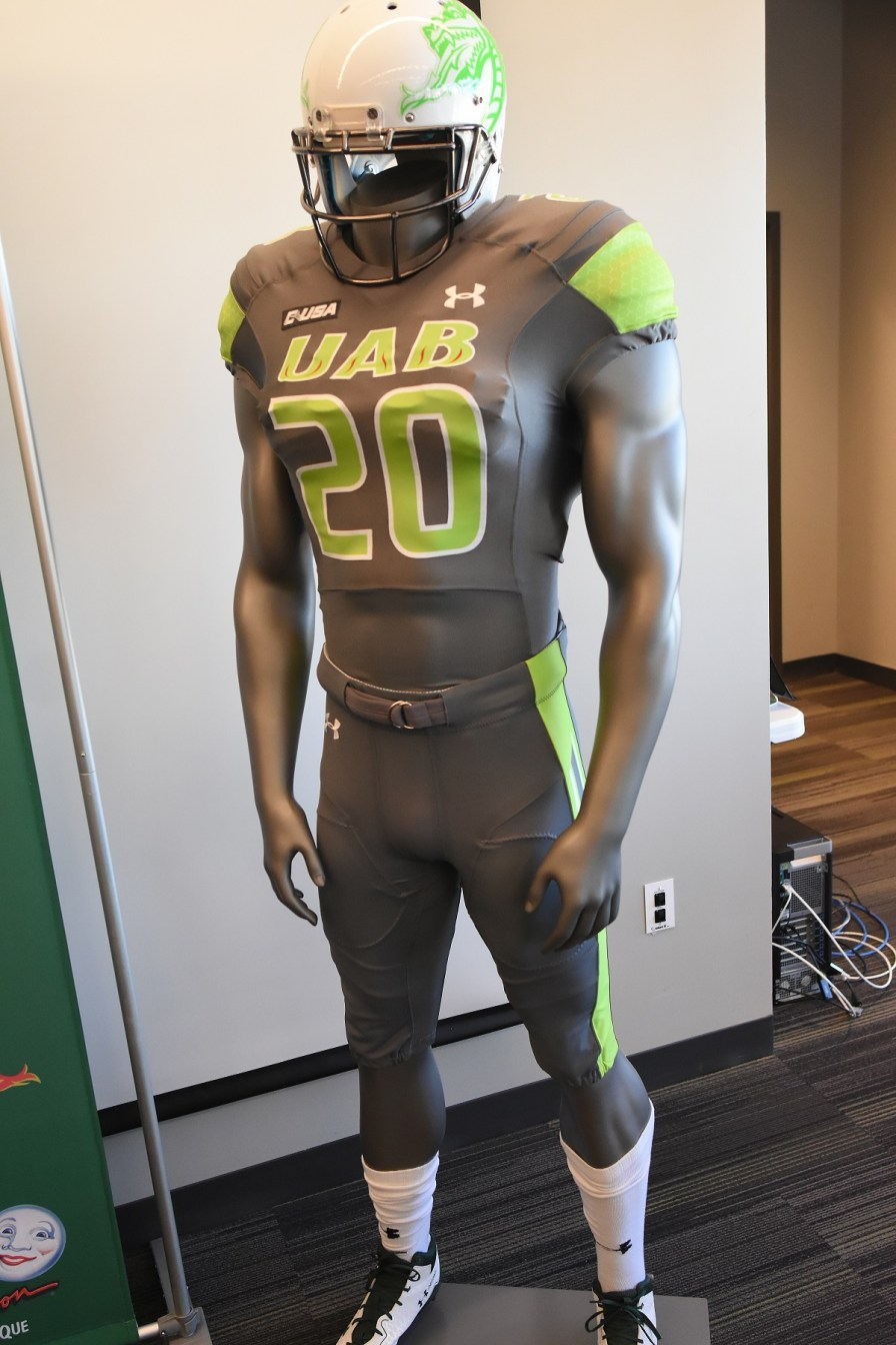 UAB players will be dressed in special uniforms on Oct. 20 in honor of Children's Harbor patients. (contributed)