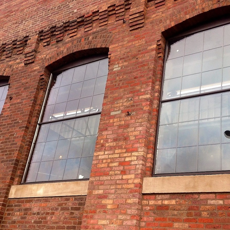 A look at part of the brick exterior of Powell Avenue Steam Plant. (file)