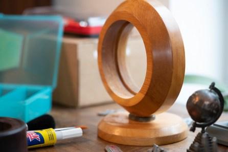 Clockmaking is a spare-time endeavor for busy Jason Burnett. (Mark Sandlin/Alabama NewsCenter)