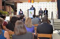 Jonathan Porter, Birmingham Division president for Alabama Power and chairman of the 2021 World Games, speaks at the 1,000-day countdown for the 2021 World Games in Birmingham. (Michael Tomberlin / Alabama NewsCenter)