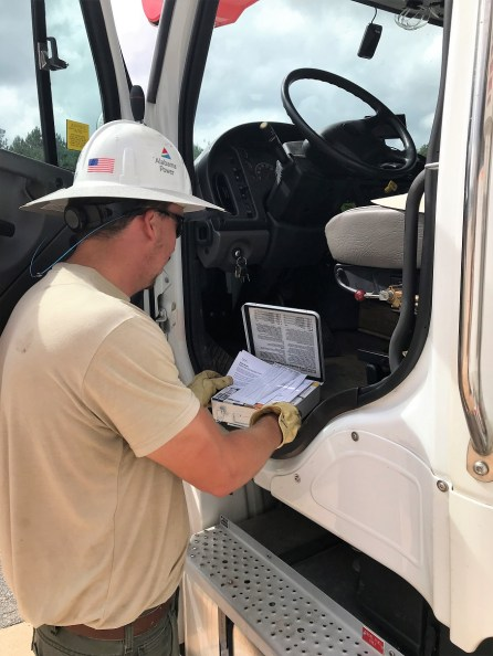 Nearly 1,250 additional Alabama Power company and contracting crews were sent to the hardest hit parts of Alabama to assist with storm restoration. (Leslie Eiland/ Alabama NewsCenter)