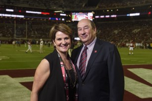 Lockheed Martin President and CEO Marillyn Hewson with her husband, James. (file)