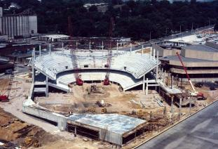 The BJCC arena was a modern venue when it opened in 1976. (BJCC)