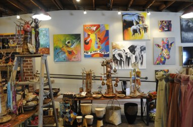 The Kanzi store in Homewood sells many African artisan-made leather and wood crafts, jewelry and other items. (Karim Shamsi-Basha/Alabama NewsCenter)