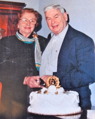 Marian and John Ray Dominick, founders of J-Ray Shoes. Marian died in 2014, but John Ray, 93, still helps out in the store, which his youngest daughter manages. (contributed)
