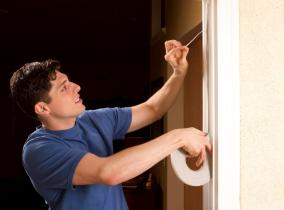 Weather stripping can eliminate drafts and loss of heat. (Getty Images)