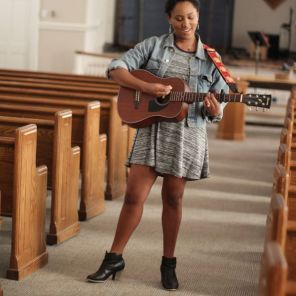 The many faces of Jada Cato, 23-year-old singer, songwriter and actress. Cato says she still has many more trails to blaze. (Joe Allen / Alabama NewsCenter)