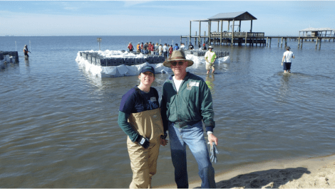 Paige Aplin and her BEST team have devoted more than 5,000 hours to environmental efforts in the past three years. (Joe Allen/Alabama NewsCenter)