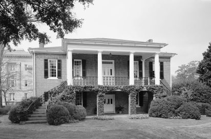 Gorgas House Museum at the University of Alabama, 1934. (Photograph by W.N. Manning, HABS, Library of Congress, Prints and Photographs Division)