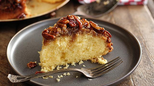 Recipe: Caramel Pecan Upside-down Cake