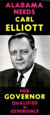Flyer from Carl Elliott's 1966 gubernatorial campaign. (Bhamwiki)