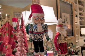 Becky York and Mark Thrash's Tuscaloosa home has traces of Christmas all year long, but the holiday season is when it comes fully alive with their collections. (Brittany Faush / Alabama NewsCenter)
