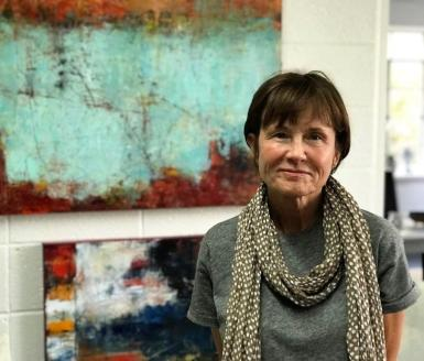 Sharon Heggeman of PaxArtist works in a variety of different styles and art forms. (Michael Tomberlin / Alabama NewsCenter)