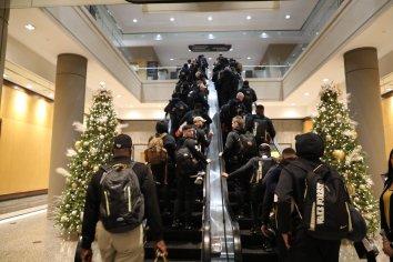 The Wake Forest football team arrives for the Birmingham Bowl. (Birmingham Bowl)