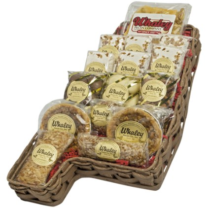 Troy's Whaley Pecan Co. sells a wide variety of treats, including the Sweet Home Alabama Basket that's filled with chocolate covered pecans, pecan brittle, mini pecan pies and more for $39.95. (Whaley Pecan)