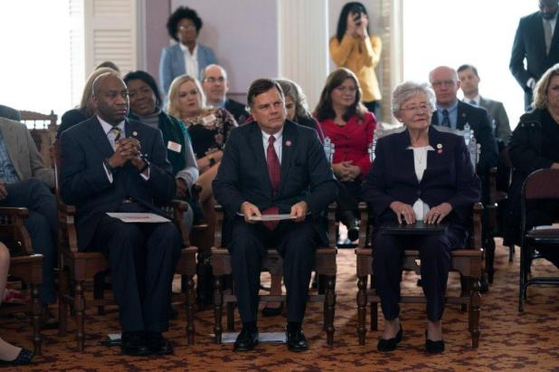 Gov. Kay Ivey led the celebration of Alabama's 199th birthday and kicked-off the year-long celebration leading up to the 200th. (Hal Yeager/Governor's Office)
