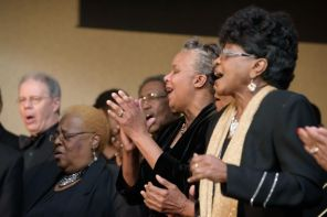 Choir performs at the start of the program honoring award recipients. (Jerome Smedley)