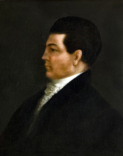 """William Wyatt Bibb (1781-1820) was a U.S. senator and member of the """"Broad River Group,"""" wealthy Georgians who settled in what would become Alabama around the turn of the 19th century. Bibb was the first governor of the Alabama Territory and retained the governorship when Alabama became a state in 1819. (From Encyclopedia of Alabama, courtesy of Alabama Department of Archives and History)"""