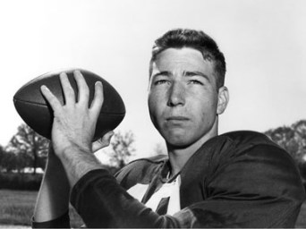 Montgomery native Bart Starr (1934-) was a star quarterback for the NFL's Green Bay Packers during the late 1950s and 1960s who played college football with the University of Alabama Crimson Tide from 1952-55. (From Encyclopedia of Alabama, courtesy of Paul W. Bryant Museum, University of Alabama)
