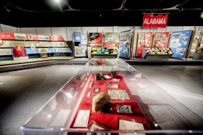 The Bryant era of Alabama football is, of course, heavily represented in the Paul W. Bryant Museum, but it also includes memorabilia from other parts of the Tide's storied history. (Paul W. Bryant Museum)