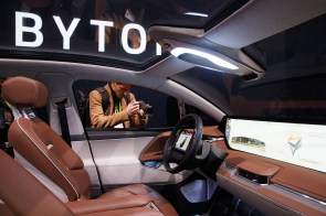 Byton's M-Byte includes a shared-experience display dashboard. (Patrick T. Fallon/Bloomberg)