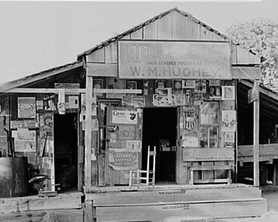 Country store near Moundville, 1936. (Photograph by Walker Evans, Library of Congress, Prints and Photographs Division)