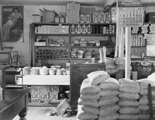 General store interior. Moundville, 1936. (Photograph by Walker Evans, Library of Congress, Prints and Photographs Division)