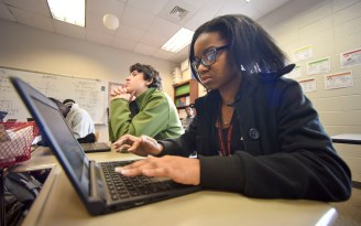 Raising the computing skills of Alabama students is among the goals of the A+ Education Partnership. (Frank Couch / Alabama News Center)