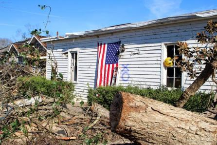 The National Weather Service estimates Saturday's twister in Wetumpka had winds of 135 miles per hour. (Justin Averette / Alabama NewsCenter)