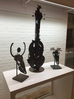 """Sculptures by Eric Johnson are included in the """"Magic City Shines"""" exhibit of work by Birmingham artists at Fairhope's Eastern Shore Art Center. (Dan Bynum/Alabama NewsCenter)"""